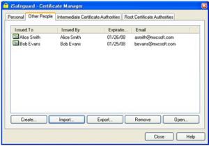 Certificate not in personal people - KB